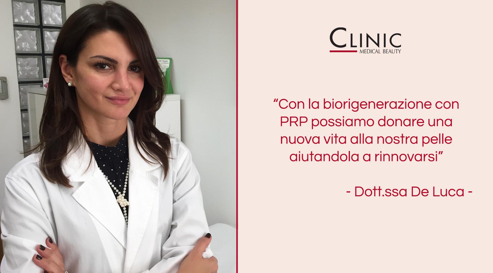La biorigenerazione con PRP spiegata dalla Dott.ssa De Luca